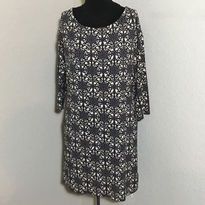 Juicy Couture 3/4 Sleeve Tunic Geometric Sz L